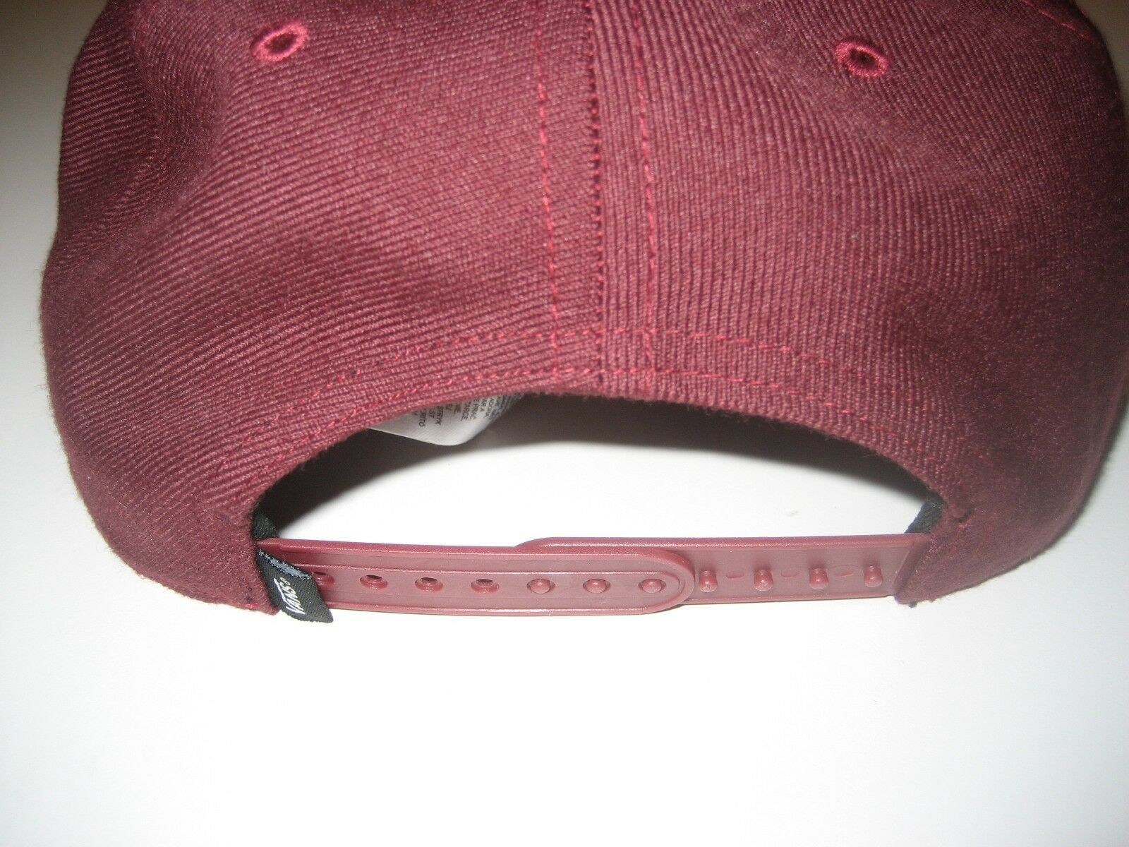 Vans Mens Grizzly Mountain Bear Wool Blend Hat Maroon Adjustable Free Ship NWT image 3