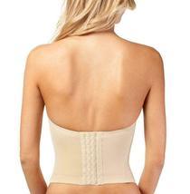 Women's Strapless Padded Push Up Shapewear Slimming Corset Beige #2052 - 36C image 3