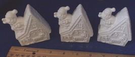 8 Christmas pieces Santa Claus,Child,Cottage,Tree Ceramic Bisque NEW -Vi... - $18.70
