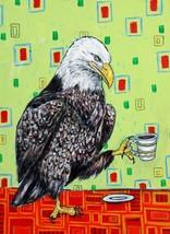 Eagle art  poster gift  modern folk coffee GLOSSY PRINT4x6 - $10.28