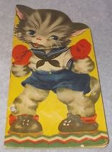 Vintage Puffy Kitten by Margot Voigt Lowe Publishing Children's Book 1941 - $7.95