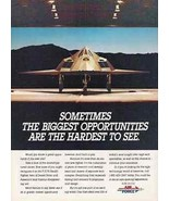 Stealth F-117A Fighter Aircraft 1992 AD Air Force - $14.99