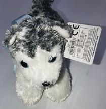 "Aurora Mini Flopsie Mush The Husky 8"" Stuffed Animal 31293 W/ Tag - $9.89"