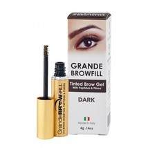 Grande browfill Tinted Brow Gel With Peptides & Fibers. Covers Gray. Dar... - $21.51