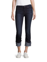 NWT JOES JEANS 25 denim blue cuffed crop jeans flawless silhouette $172 ... - $87.29