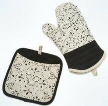 Disney Parks Disney Kitchen Mickey Mouse Icon Oven Mitt and Potholder Se... - $34.64