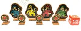 Game Parts Pieces Donkey Kong Milton Bradley Die 4 Pawns 4 Fireballs - $7.82