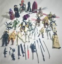 Star Wars Figures  Hasbro 2000-2006 21 Figures + Accessories - $24.00