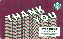 Starbucks 2020 Thank You Collectible Gift Card New No Value - $1.99
