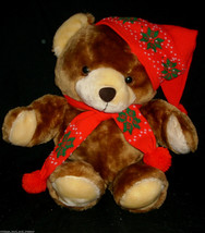 "20"" VINTAGE 1986 COMMONWEALTH CHRISTMAS TEDDY BEAR STUFFED ANIMAL PLUSH ... - $55.17"