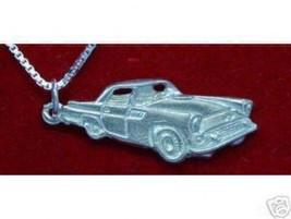 COOL Sterling Silver luxury Car Pendant Charm Ford ThunderBird Jewelry T... - $22.20