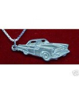 COOL Sterling Silver luxury Car Pendant Charm Ford ThunderBird Jewelry T-Bird ve - $22.20