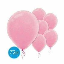 "New Pink Latex Round Balloons 12"" 72 Ct - $9.89"
