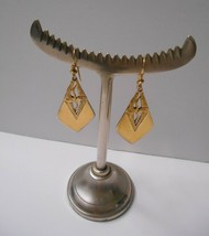 Signed Laurel Burch~all Gold Plate Cranes/Birds~GP Hook Pierced Earrings - $24.50