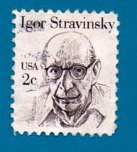 Scott  #1845 Used US Stamp 1992 2 cent - Igor Stravinsky - $1.99