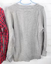 Old Navy Plaid Button Down Shirt + Gap Kids Sweater Boys Size S 6-7 Holiday Set image 5