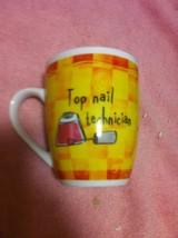 TOP NAIL TECHNICIAN COFFEE MUG / CUP--HISTORY & HERALDRY---FREE SHIP--NEW - $16.31