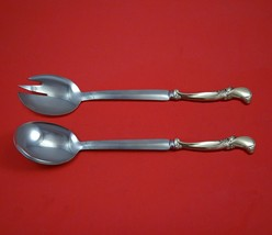 Waltz of Spring by Wallace Sterling Silver Salad Serving Set Modern Cust... - $149.00