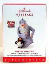 2016 Hallmark Winter Warlock Santa Claus is Comin to Town Christmas Orna... - $22.90
