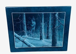 Bradford Exchange Collectors Plate Tile Wolf Figurine Moon Shadow Dark Gathering - $28.98