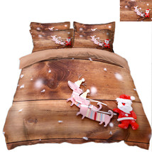 3D Christmas  Xmas 3414 Bed Pillowcases Quilt Duvet Cover Set Single Queen King - $64.32+