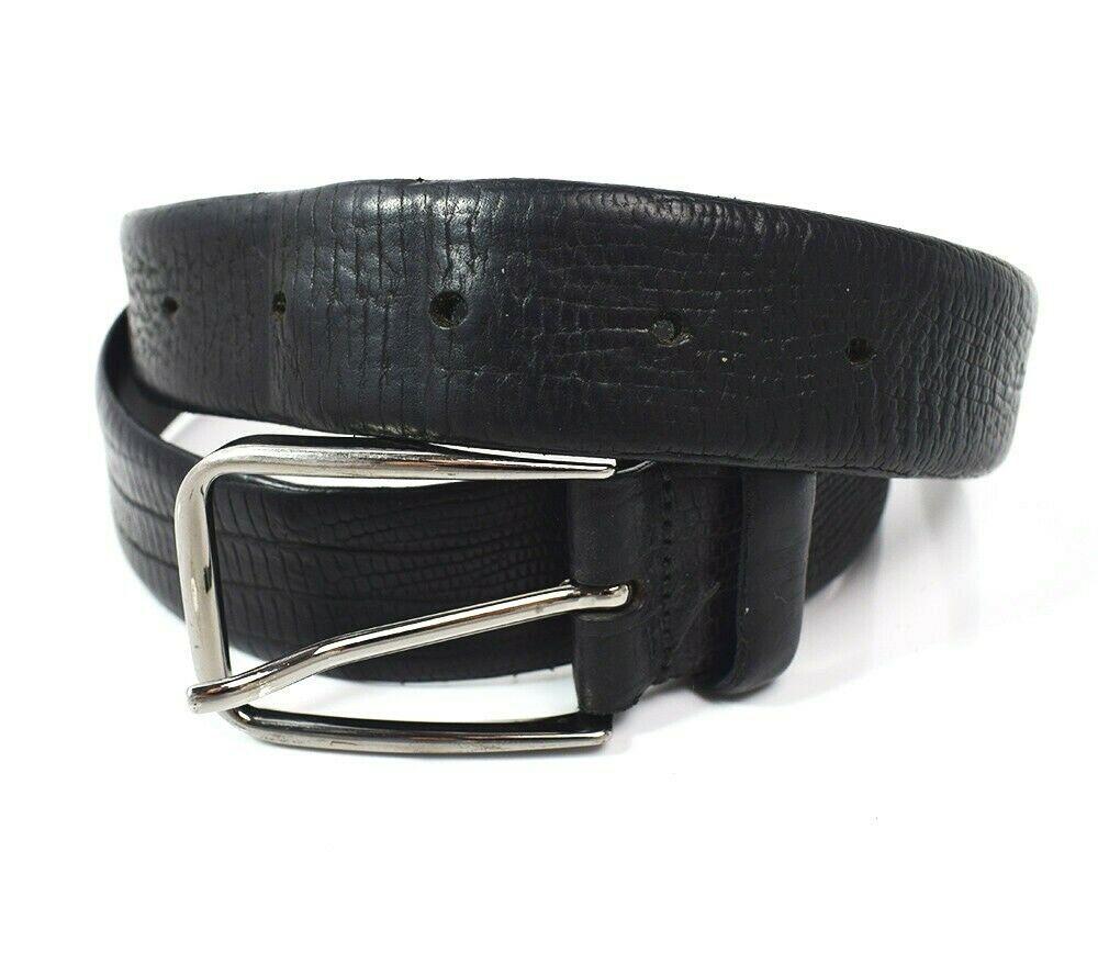 Strellson Classic Mens Leather Belt Black Size 34