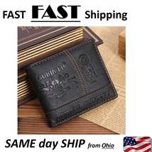cool mens wallet - unisex wallet - black leather fashion wallet - $11.77