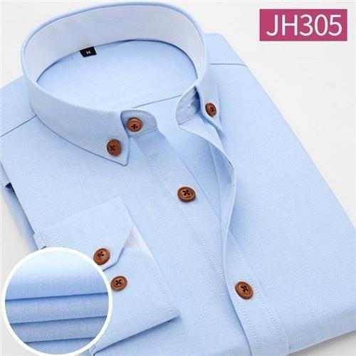 Men Shirt Casual Long Sleeve Plaid Formal Brand Clothing Business Shirts Chemise