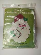 Vintage Bucilla Christmas Needlecraft Jeweled Christmas Mail Bag SANTA'S... - $19.34