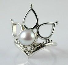 Anello di perle d'acqua dolce 925 gioielli fatti a mano in argento sterl... - $20.66