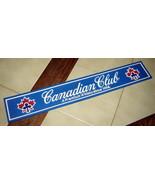 "CANADIAN CLUB Whisky Blue Rubber Bar Mat Drink Runner (21"" L) - $19.50"