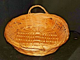 Handmade Woven Wicker Basket with Double Handles AA-191712 Vintage Collectible image 3