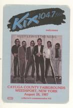 Huey Lewis 8/28/87 Weedsport NY KIX 104.7 Commemorative Backstage Pass! - $9.89