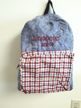 Longaberger Backpack  Bee 1998 Zippered Bag - $9.85