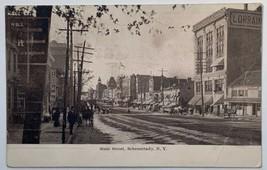 Old Undivided Back Postcard View State Street, Schenectady, New York Unp... - $19.55