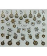 Nail Art 3D Decal Stickers Christmas Ornaments Snowflakes Winter Holidays - $5.92