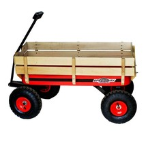 Garden Beautification Tool All Terrain Wooden Racer Wagon Removable Wood... - $90.99
