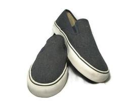 Polo Ralph Lauren Mytton Men's Canvas Blue Sneakers Shoes Burlap Slip On 12 D - $38.60