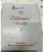 1988 GM Cadillac ELDORADO SEVILLE Service Shop Repair Manual OEM FACTORY  - $8.90