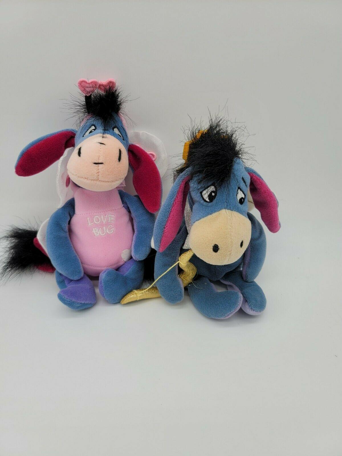 """Disney Beanie Baby Cupid Eeyore Lovebug Eeyore Valentine Plush 9""""  Disney Store - $12.99"""