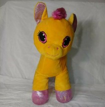 Hug Fun Plush Orange Pink Pony Horse Hugfun Stuffed Soft Toy - $14.99