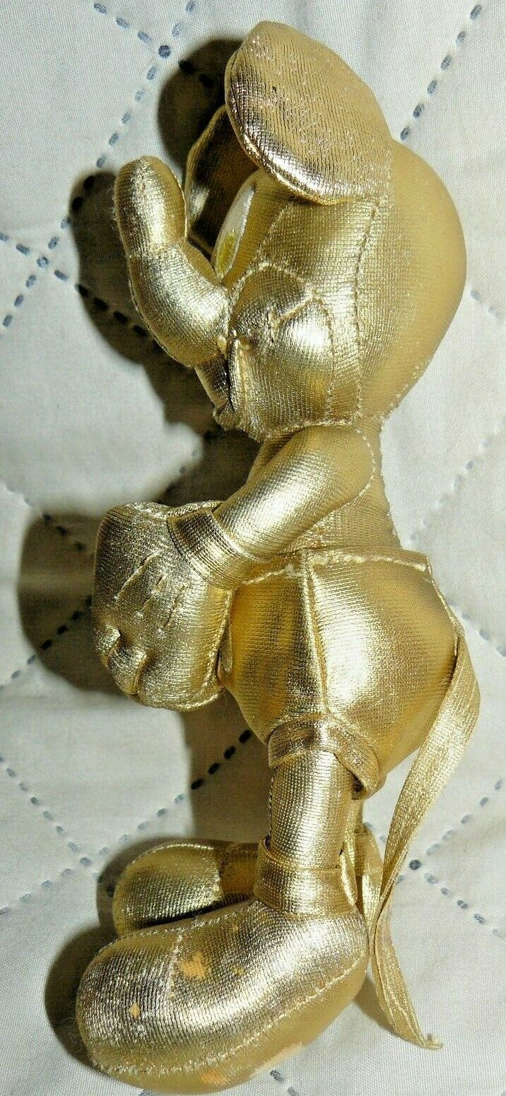 """Disney Store Mickey Mouse Plush 7"""" Gold Collection 90th Birthday image 5"""