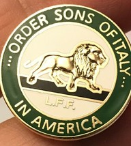 Vintage Pin /Order Sons Of Italy In America L.F.F. - £3.86 GBP