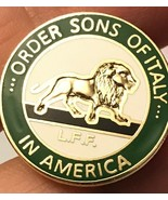 Vintage Pin /Order Sons Of Italy In America L.F.F. - $5.05