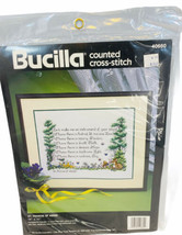Vintage Bucilla St Francis Of Assisi Inatrument Of Peace Cross Stitch Ki... - $12.86