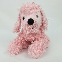 "Ganz Webkinz Poodle 10"" Plush Dog Pink Fuzzy Curly Stuffed Animal NO CODE - $12.12"