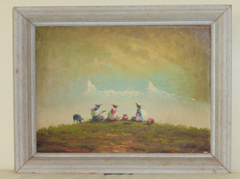 ECUADORIAN ARTIST HECTOR MONCAYO (1895-1984) FRAMED SIGNED OIL ON BOARD ... - $149.00