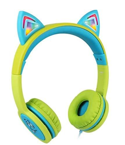 Cosy HP3271 Safe Hearing Protection Wired On Ear LED Kids Headphone Children Boy