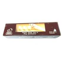 "Taunton Sheridan Silver Plate Napkin Rings 4 Piece Set Vintage 1 1/2"" Round - $14.98"