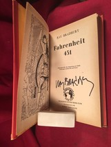 Ray Bradbury - Fahrenheit 451 - 1955 Sci Fi Book Club, 2nd/2nd signed in... - $343.00